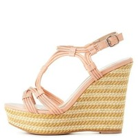 Qupid Strappy Platform Wedge Sandals by Charlotte Russe