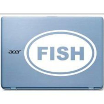 FISH Love Fishing Car Window Ipad Tableet PC Notebook Cumputer Decal Sticker