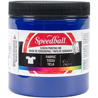 Speedball Art Products Fabric Screen Printing Ink, 8-Ounce, Process Cyan