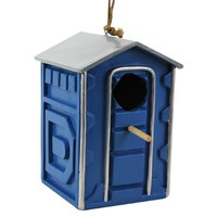 Outhouse Birdhouse & Birdfeeder - Portable Potty Birdhouse!