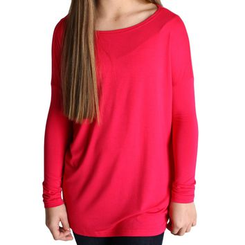 Cherry Piko Kids Long Sleeve Top