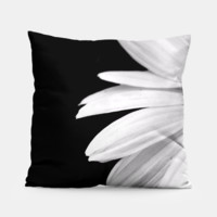 Half Daisy In Black And White Pillow, Live Heroes