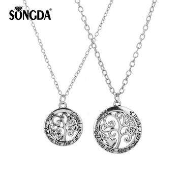 "SONGDA Fashion Mother and Child Love ""Mom"" Alloy Necklace Tree Of Life Choker Pendant Necklace for Mother's Day gifts"