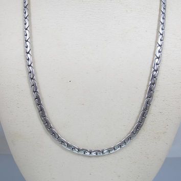 Men's Sterling Silver Chain Necklace. Byzantine Style Chain. Unisex Men Women Sterling Necklace. 43 Grams