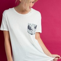 IEVA FLORAL POCKET TEE