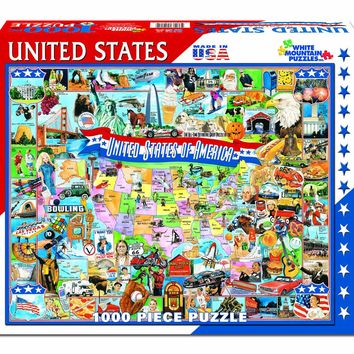 UNITED STATES OF AMERICA MAP - 1000 Piece Jigsaw Puzzle