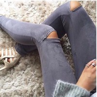 Women's Fashion Zippers Stretch Sexy Leggings [6325942785]