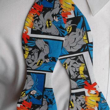 Batman Action Bow tie by PinchAndPull on Etsy