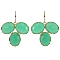 Irene Neuwirth Rose Cut Chrysoprase Earring