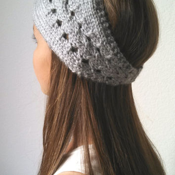 The Elle Headwrap - Knit Turban Headband - HEATHER GRAY - (more colors available)