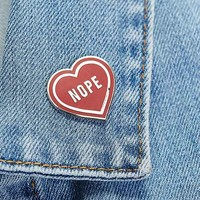 These Are Things Nope Heart Pin