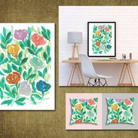 Hand painted flowers1c