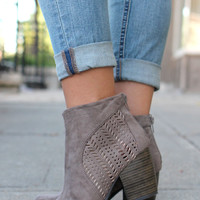 Chic Not Meek Bootie - Taupe