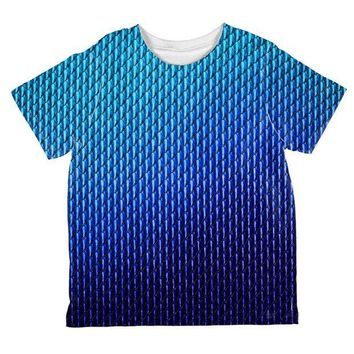 CREYCY8 Halloween Blue Ice Dragon Scales Costume All Over Toddler T Shirt