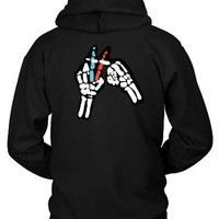 Twenty One Pilots Skeleton Hand Hoodie Two Sided