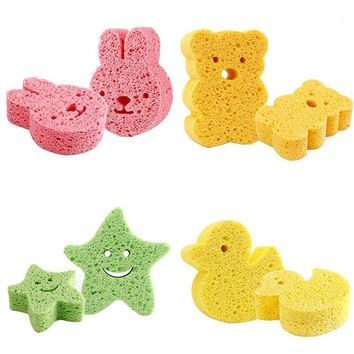 Infant Shower Cotton Bath Scrub Sponge For Baby