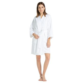 Women's Modal Kimono Resort Spa Robe with Quilted Design