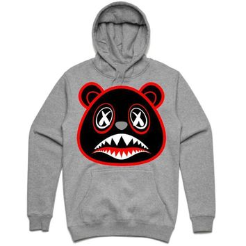 BRED BAWS Ash Grey Heather Sneaker Hoodie