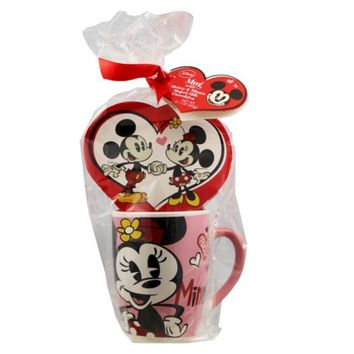 Mickey & Minnie Ceramic Mug with Chocolates 2.1 oz
