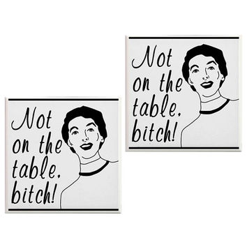 Not on the table bitch Coasters, Funny Coasters, office decor, housewares, Ceramic Tiles, Decorative Coasters, Funny gifts, Geekery, Bitch