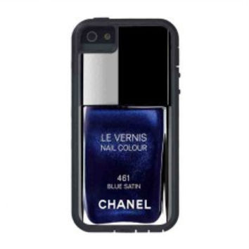 Chanel Nail Polish Blue Satin for iphone 5s case