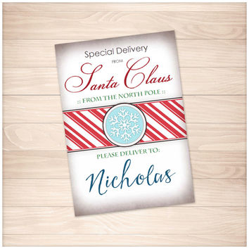 Special Delivery from Santa Claus - Personalized Gift Tags or Stickers - Printable
