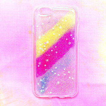 Sparkle Striped Clear iPhone Case