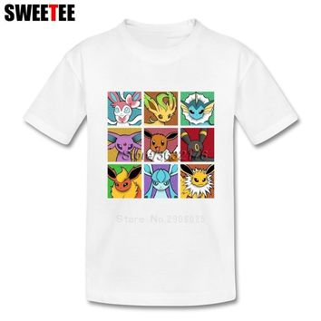 Pop Eeveelutions  Go Boys Girls T Shirt Cotton Short Sleeve O Neck Tshirt Children Clothes 2018 Tops T-shirt For KidsKawaii Pokemon go  AT_89_9