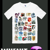 worldwide shipping just 7 days retro CAMERAS men t shirt 30242