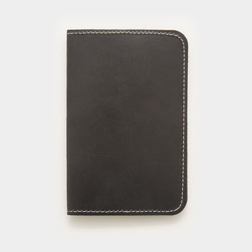 Word. Notebook Leather Cover - Black