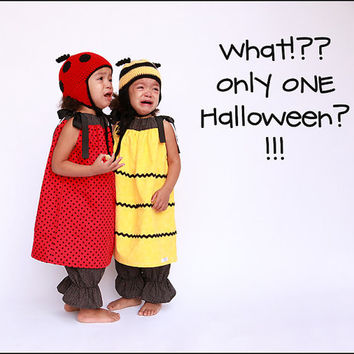 twin halloween costume set ladybug costume bumblebee costume