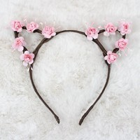 Rose Cat Ears Headband