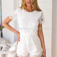 Lucy Lace Playsuit
