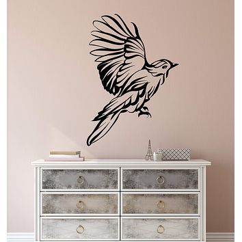 Vinyl Wall Decal Abstract Beautiful Bird Wing Feathers Stickers (2233ig)