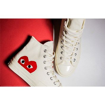 Converse Play Fashion Casual Loving Heart Reflective Sneakers Hi 68450a1d6