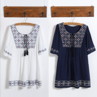 Embroidery  large size Loose dress B0014829