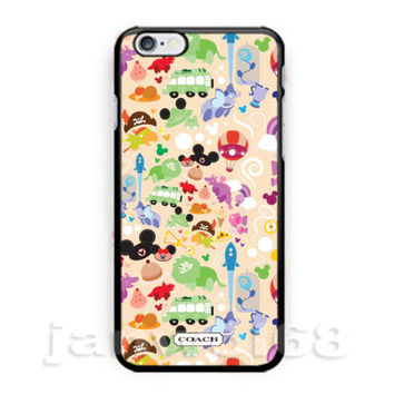 Coach Disney Wallpaper Art For all iPhone Print On Hard Plastic Case