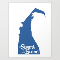 The Sword in the Stone Art Print by Citron Vert
