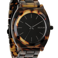 Nixon - Time Teller Tortoise-Print Acetate Watch