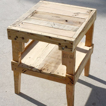 Farmhouse Table Night Stand. Bed Table.