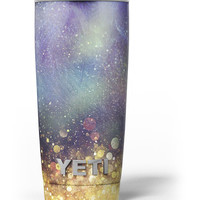 Unfocused MultiColor Gold Sparkle Yeti Rambler Skin Kit