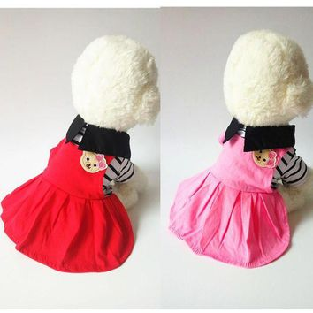 DCCKH6B Cute Dog Dress Summer Princess Skirt Small Dog Clothes Chihuahua Puppy Pet Dog Clothing Costume Poodle Yorkies Shih Tzu
