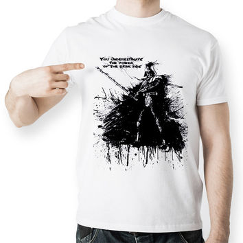 Black Ink Hand Drawn Darth T Shirt
