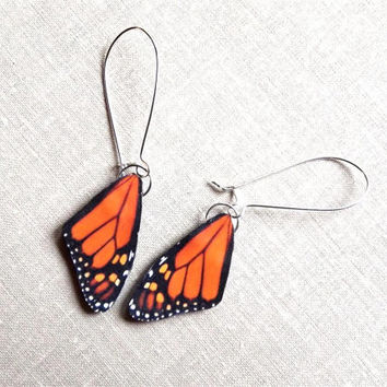 Butterfly wing earrings, Monarch butterfly wing earring, Butterfly wing, Wing earrings, Monarch butterfly, Motherrs day gift, spring jewelry