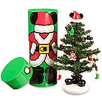 Santa Mickey Mouse Miniature Christmas Tree with Mailer