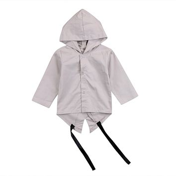 2018 Fashion Newborn Baby Kids Long Sleeve Letter Print Coat Boys Toddler two Color Coat Outerwear Jacket