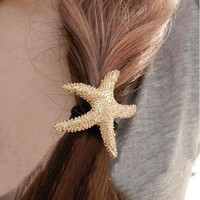 Fashion Starfish Hair Barrette