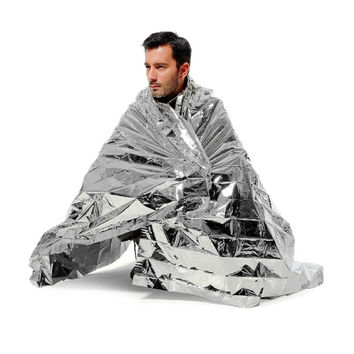 "IM Survival Mylar Emergency Rescue Blanket 84''x 52"" Camping Shelter"