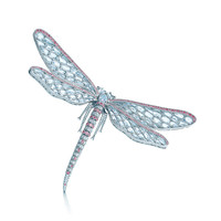 Tiffany & Co. - Brooch in platinum with white and Fancy Pink diamonds.