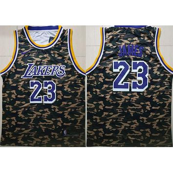 2019 Lakers 23 Lebron James Camo Fashion Basketball Jersey | Best Online Sale